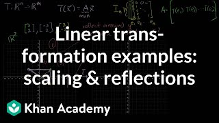 Linear Transformation Examples: Scaling and Reflections