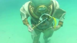 Antique Diving: Patrick Rodgers first dive with a TF12 helmet