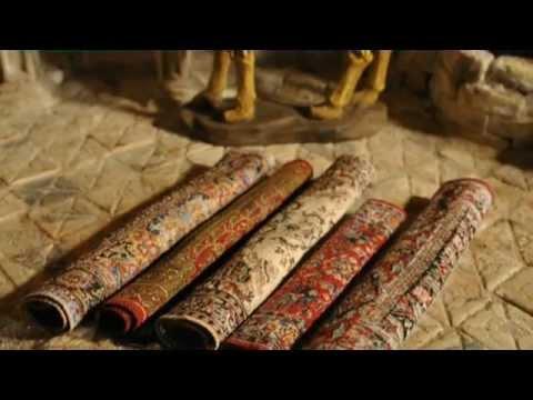 Krippenzubehör: Wunderschöne orientalische Miniteppiche