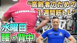 【新型コロナウイルス】水曜日はこれだ!腰と背中のトレーニング!高齢者のための1週間筋トレ!