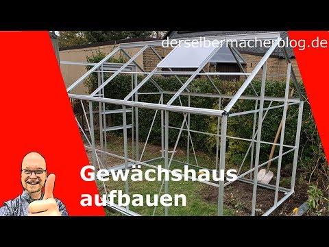 Gewächshaus Aufbau (Deuba Aluminium Gewächshaus, 7,6qm)