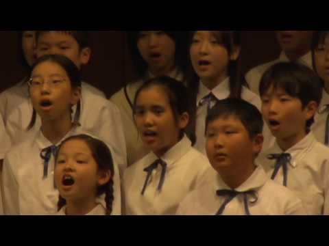 """""""地球の歌"""" : """"VOICES"""" : 高輪台小学校 : 五年生."""