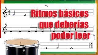 Ritmos básicos que tienes que aprender antes de estudiar música