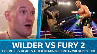 Deontay Wilder vs Tyson Fury 2: Fury reacts after stopping Wilder in seventh round
