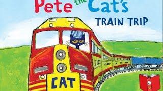Pete the Cat's Train Trip by James Dean - Kids Books Read Aloud