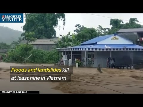 Floods and landslides kill at least nine in Vietnam
