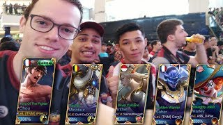 Playing with SAINTS WARPATH, AKOSI DOGIE, GEMIK and DAVE in RANKED! - Mobile Legends