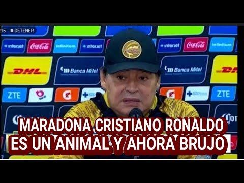 DIEGO MARADONA CRISTIANO RONALDO ES UN ANIMAL Y AHORA BRUJO