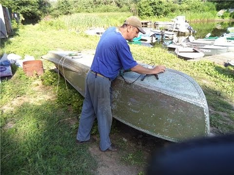 Восстановление лодки, Часть 2: Заклепывание дна)