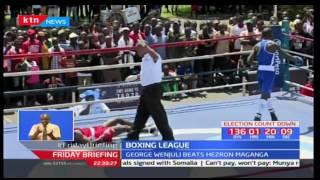 Coast's George Wenjuli defeats KDF's Hezron Maganga in KDF's Hezron Maganga