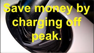 Save money by charging the EV during the off peak hours.