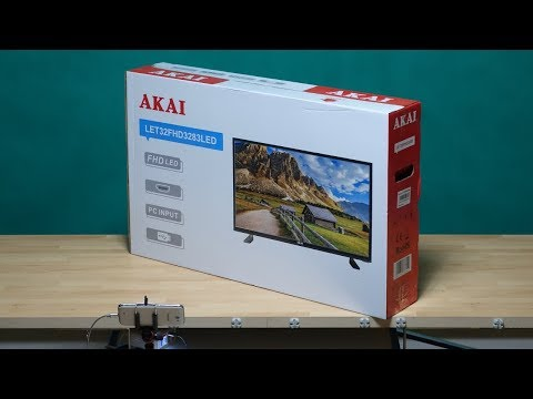 LCD TV AKAI (LET32FHD3283LED) ~ unboxing & test ~ Česky ᴴᴰ