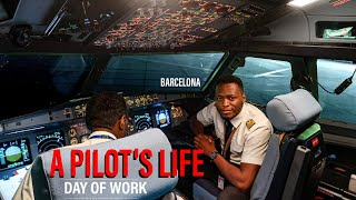 What an Airline Pilot's Day of Work REALLY Looks Like - A320 BARCELONA