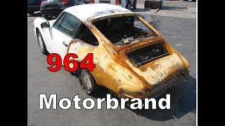 Porsche 911 Brandschaden Ankauf - 964 Coupe Motorbrand