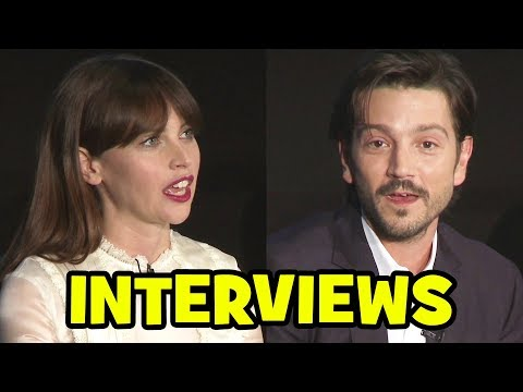 ROGUE ONE Cast Interviews – Felicity Jones, Diego Luna, Donnie Yen, Alan Tudyk, Riz Ahmed
