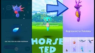 Horsea  - (Pokémon) - Pokemon Go 100% Shiny Horsea & Seadra - Kingdra Evolution After 43 Tries