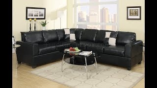Faux Leather Sectional Sofas