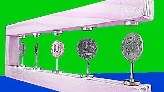 HOW TO MAKE A COOL MAGNETIC LEVITATION STAND FOR COINS