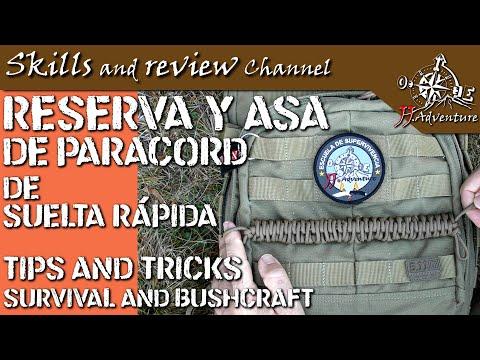 ✅ RESERVA y ASA de PARACORD de SUELTA rápida   QUICK deploy paracord RESERVE