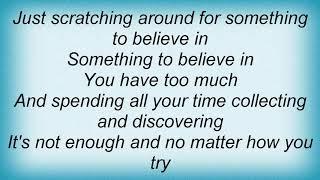Aqualung - Something To Believe In Lyrics