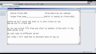 Copy sap script one client to another - ABAP (800 to 810)