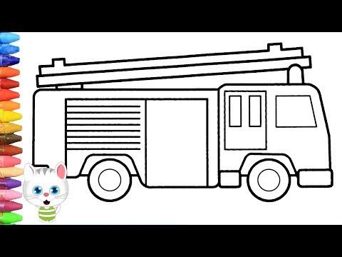 Itfaiye Arabasi Nasıl Yapılır Nasıl çizilir Mimi Ile Boyama Ve