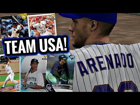 TEAM USA BUILD! 2017 WORLD BASEBALL CLASSIC ROSTER! - MLB The Show 16 Diamond Dynasty #180
