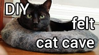 How To Make Felt Cat Cave : DIY