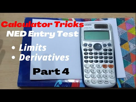 How to use Calculator || Limits || Derivatives || Casio fx-991ES PLUS 🔥🔥🔥