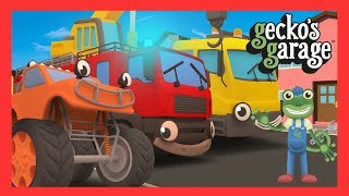 Wheels On The Trucks | Songs For Children | Gecko's Garage