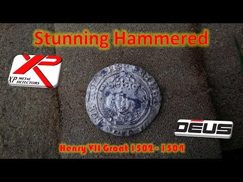 Metal Detecting Silver Henry VII Groat XP Deus