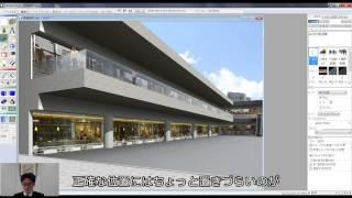 Piranesi6.2動画オフセットを使った点景の配置テクニック