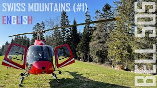 Swiss Mountains (#1) from a Bell 505 helicopter (english)