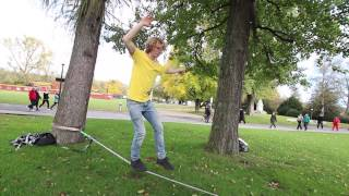 Slackline-Tutorial: Standing and Walking