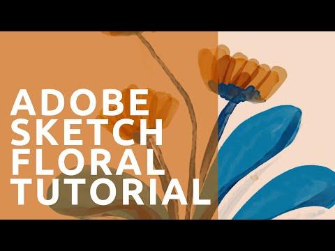 Adobe Sketch Floral Tutorial For Beginners