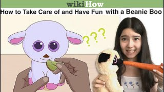 How To Take Care of a Beanie Boo (according to Wikihow)