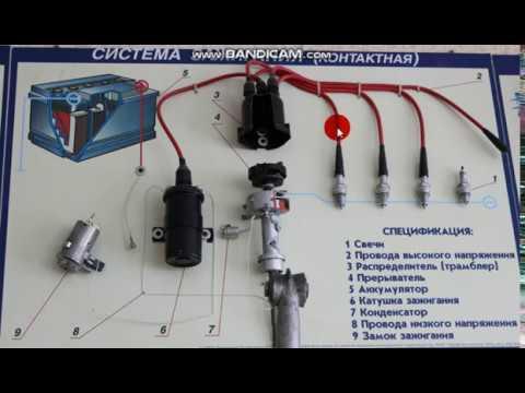 Контактная система зажигания ДВС. Понятно даже лосю :) Схема системы зажигания. Ремонт и СТО. Теория