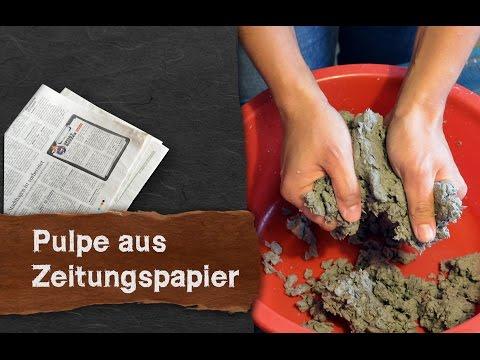 Pappmaché aus Zeitungspapier - klassisch und einfach