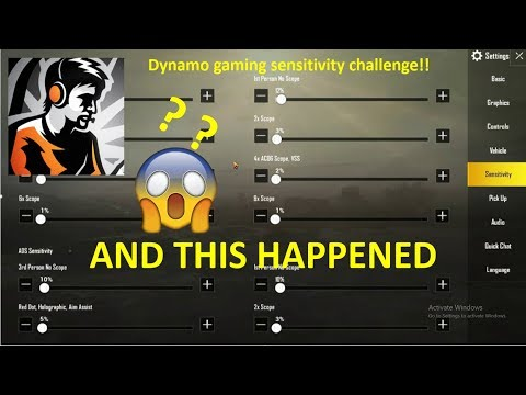 Dynamo Gaming Sensitivity Settings Revealed !   Snipe Like Dynamo