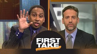 Stephen A. and Max have heated argument about Kevin Durant without Steph Curry   First Take   ESPN