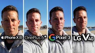 iPhone XS vs OnePlus 6T vs Pixel 3 vs LG V40! CAMERA TEST