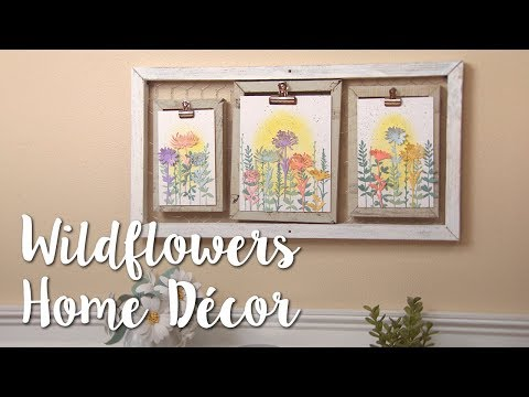 DIY Clipboard Decor: Wildflowers & Florals