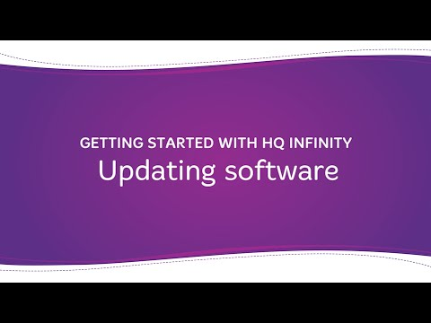 HQ Infinity - Updating the Software