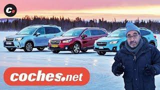 Subaru Winter Test | Impreza, XV, Forester, Outback, BRZ | Prueba / Review en español | coches.net