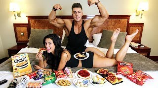 EATING FOOD off my Girlfriends Body | EPIC CHEAT MEAL | My First Ever (MUKBANG)