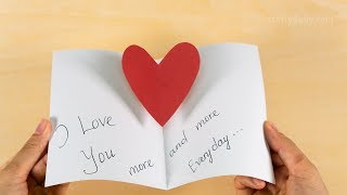 Easy Pop Up Heart Card | DIY Father's Day Cards | Pop Up Card for Dad | Craft for Kids