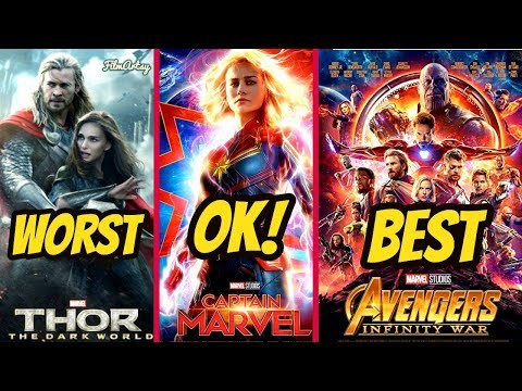 All Marvel Movies Ranked From WORST to BEST | Captain Marvel Included