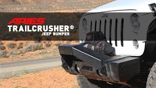 ARIES (2156002): TrailCrusher® Front Bumper for Jeep Wrangler JL and Gladiator