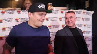 OLEKSANDR USYK RECEIVES THE 2018 BWAA FIGHTER OF THE YEAR AWARD