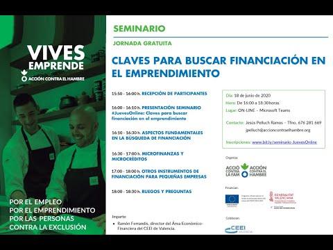 Seminario: Claves para buscar financiación en el emprendimiento[;;;][;;;]